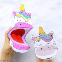 Browse More Summer Crafts For Kids Printable Unicorn Puppet