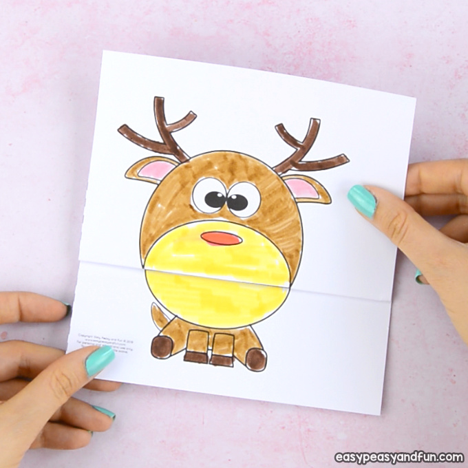 Surprise Big Mouth Reindeer Printable