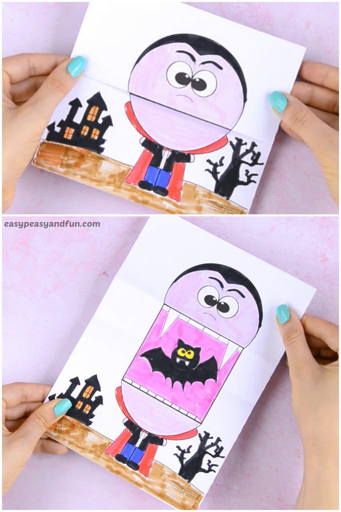 Surprise Big Mouth Vampire Printable Paper Craft for Kids
