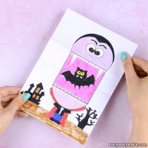 graphic regarding Printable Holloween Crafts called 25+ Halloween Crafts for Little ones - Artwork and Craft Tutorials