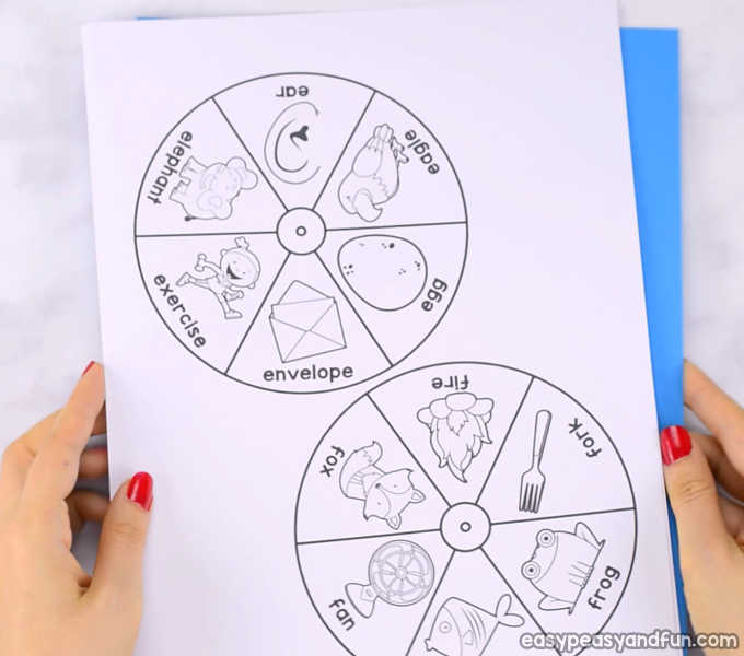 image relating to Printable Spinner named Printable Alphabet Spinners - Very simple Peasy and Enjoyable