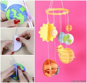 3D Paper Mobile Planets Craft Template – Solar System Craft