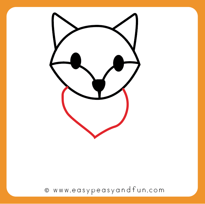 How to Draw a Fox - Step by Step Fox Drawing Tutorial - Easy Peasy ...