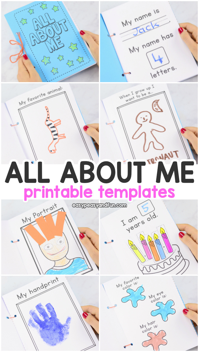 photograph regarding All About Me Printable named All Relating to Me Printable Reserve Templates - Uncomplicated Peasy and Enjoyable