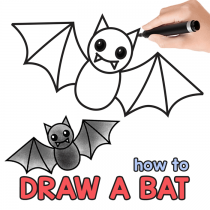How to Draw a Bat – Step by Step Bat Drawing Tutorial