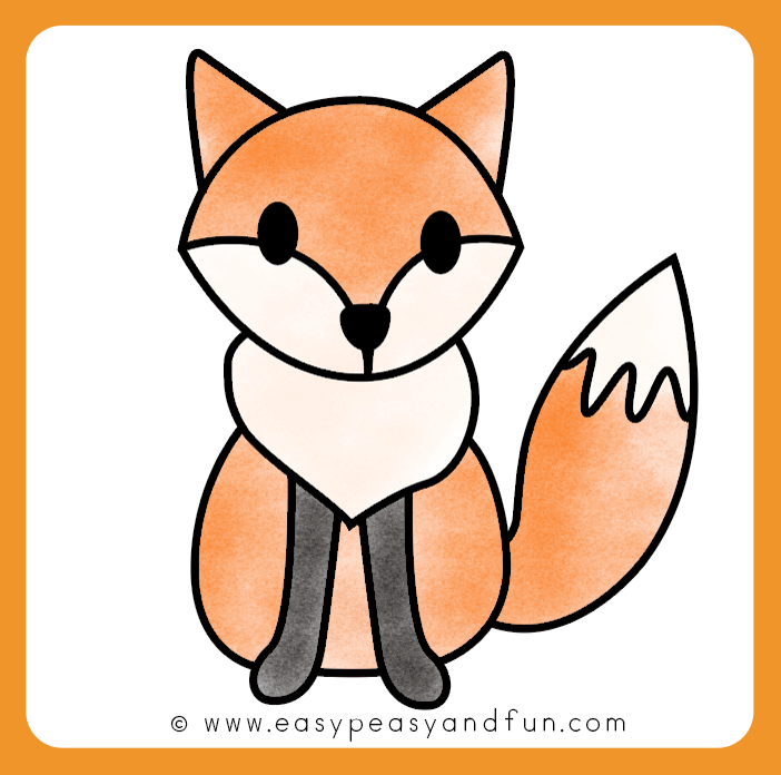 Color your fox drawing