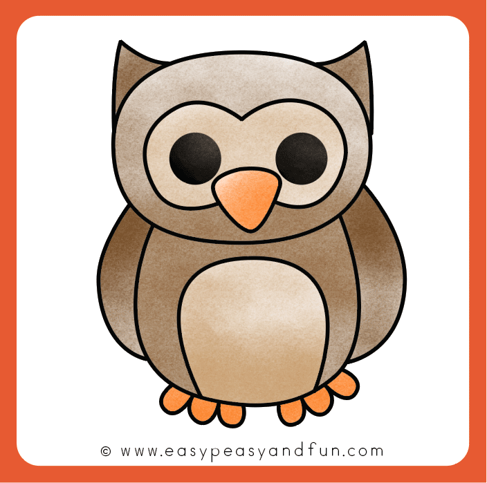 How To Draw An Owl Step By Step Instructions Easy Peasy And Fun