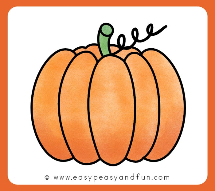 Color your pumpkin drawings