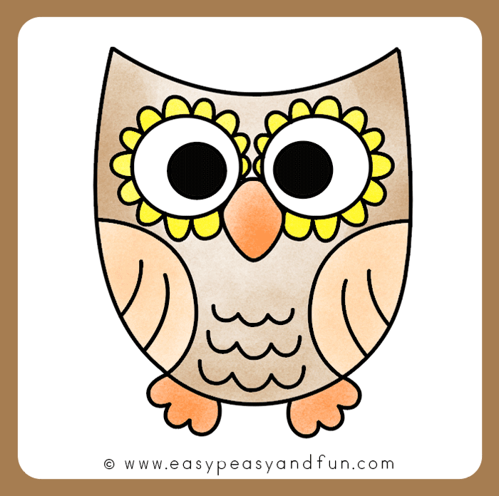 Color the owl drawing
