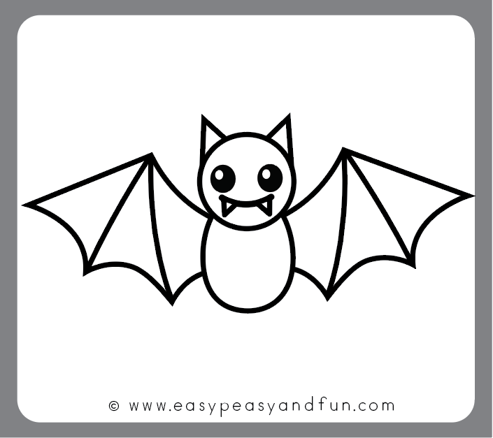 Finsihed bat drawing