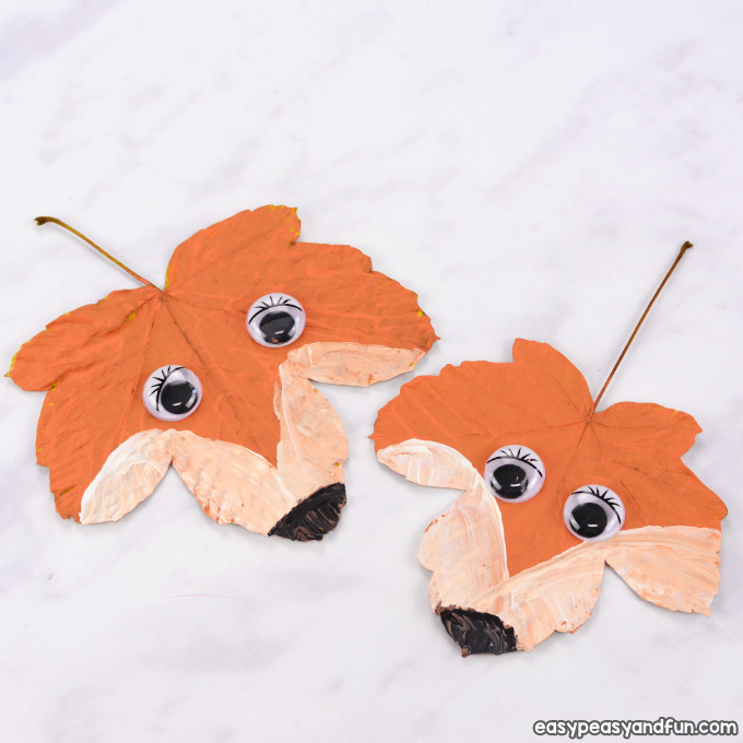 Fox Leaf Craft for Kids