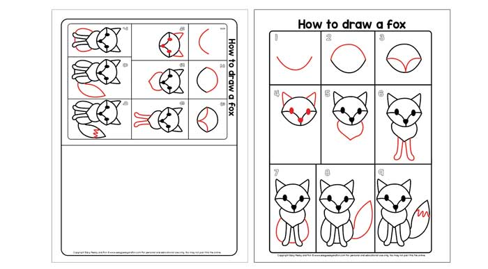 Fox guided drawing templates