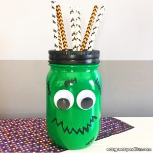 Frankenstein Mason Jar Craft