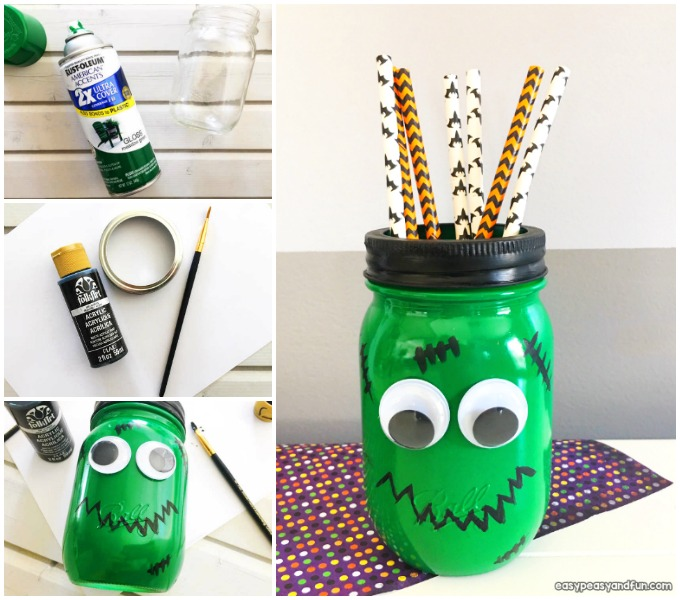 frankenstein mason jar craft frankenstein jar craft easy craft easy 4503