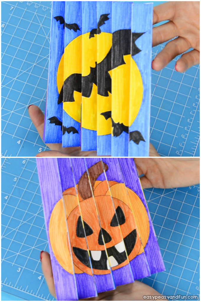 Halloween Agamograph Printable Template Craft