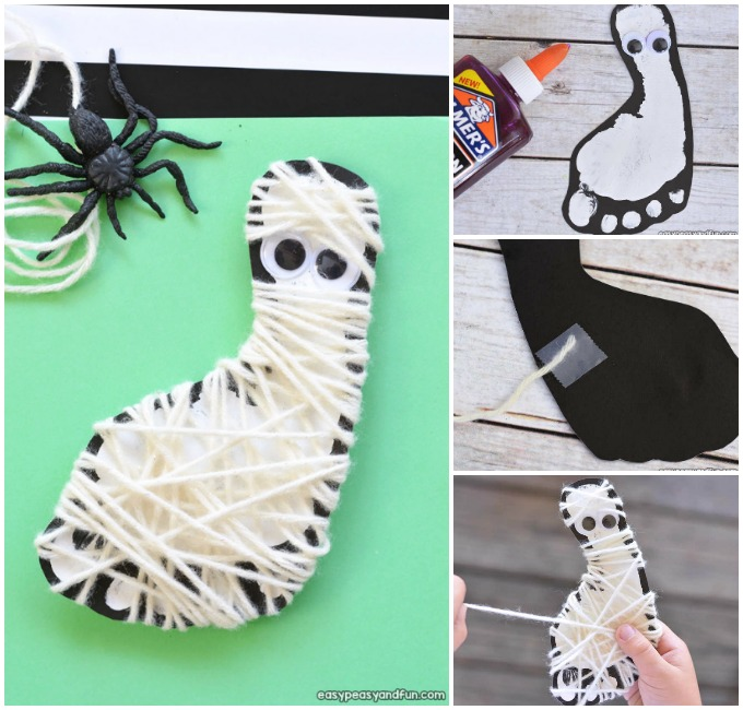 Mummy craft for kids.