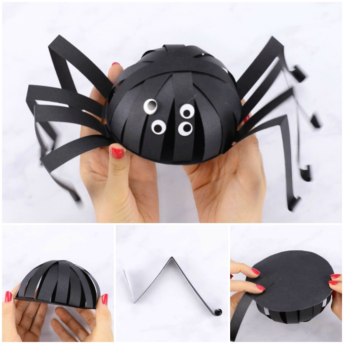 Paper Spider Halloween Craft for Kids