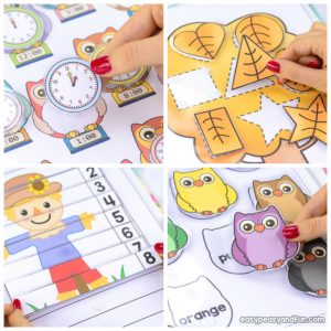 Printable Fall Quiet Book – Activity Book for Pre-K and K