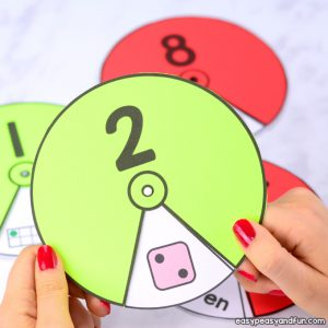 Printable Numbers Spinners 1 to 20