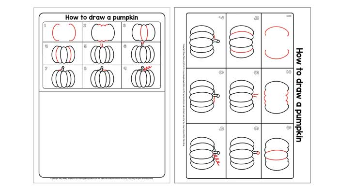 Pumpkin Guided Drawing