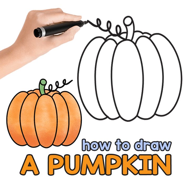 Pumpkin drawing tutorial