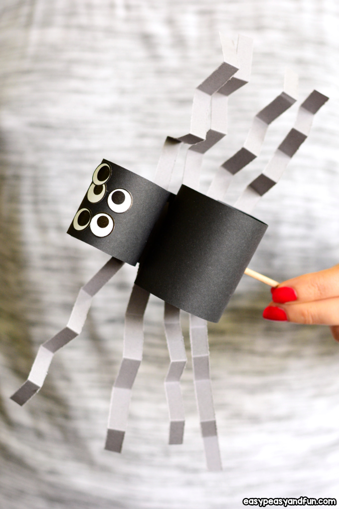 Simple Paper Spider Craft for Kids