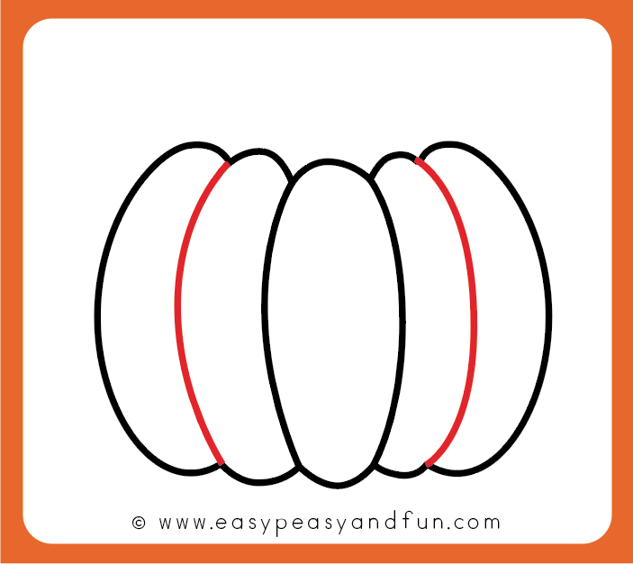 How to Draw a Pumpkin - Easy Peasy and Fun