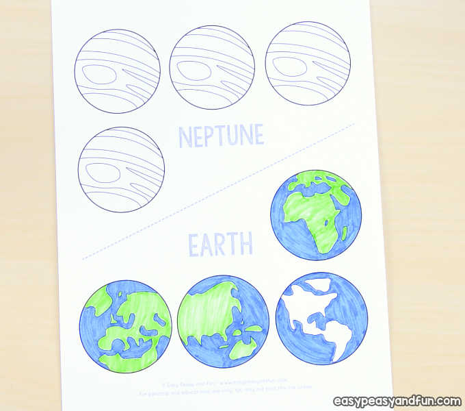 3d paper mobile planets craft template solar system craft easy