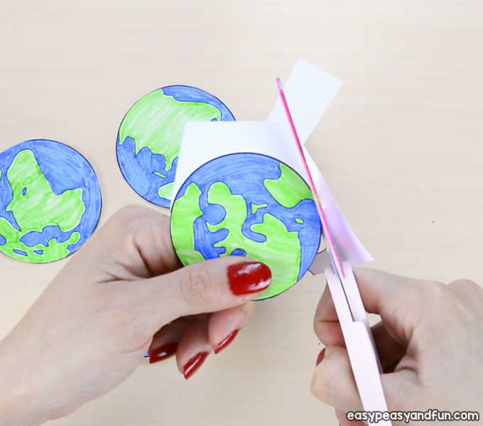 3D Paper Mobile Planets Craft Template - Solar System Craft - Easy