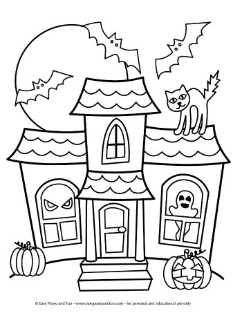 Haunted Mansion Coloring Page