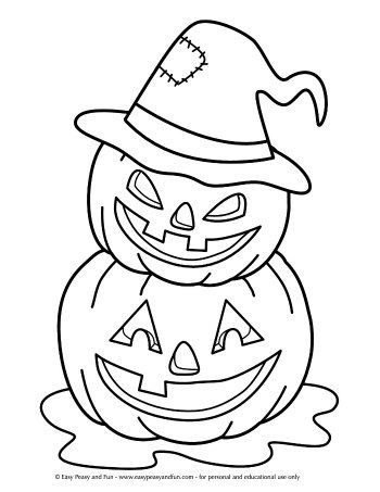 Halloween Coloring Page Jack o Lanterns
