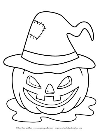 Page Jack o Lanterns Coloring Pages