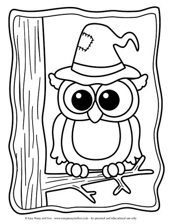 Halloween Coloring Pages - Easy Peasy and Fun | 453x350