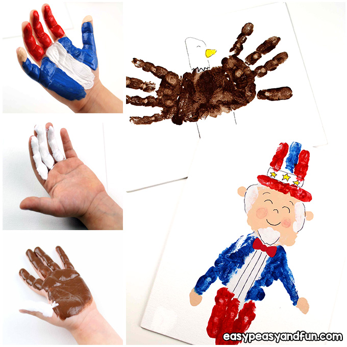 4th of July Handprint Art