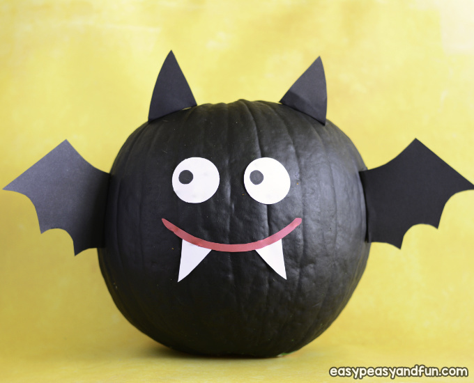 Bat Pumpkin Painting Idea