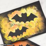 Bat Silhouette Art Halloween Idea