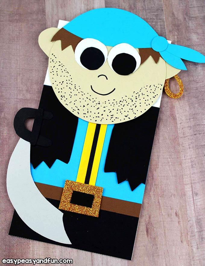 Boy Pirate Bag Puppet