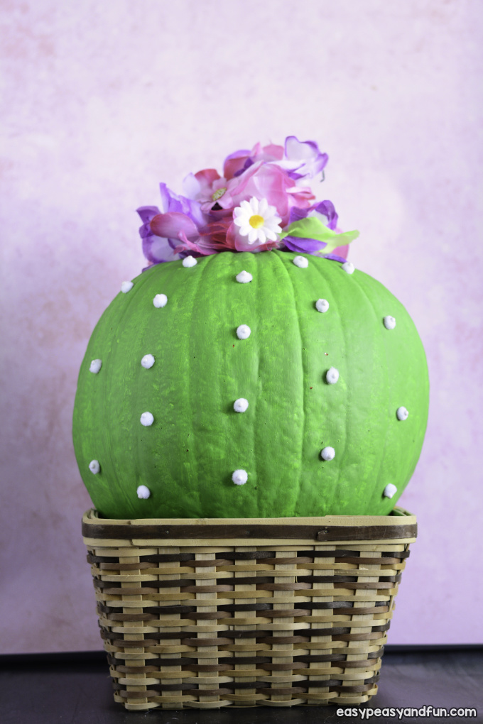 Cactus Pumpkin Painting Idea