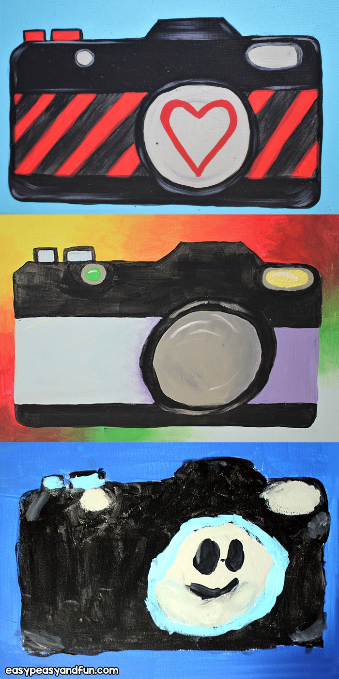 Camera painting art lesson