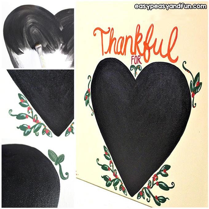 Chalk Paint Heart Art Project