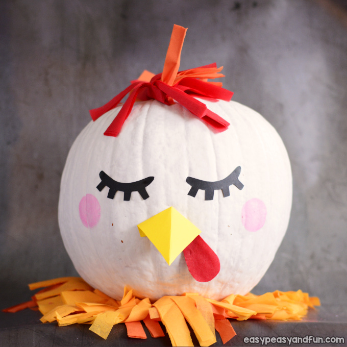 Chicken Pumpkin Painting Idea