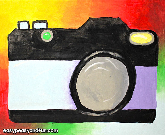 DIY Camera Canvas Art
