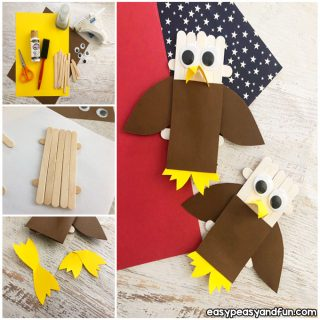 DIY Craft Sticks Bald Eagle