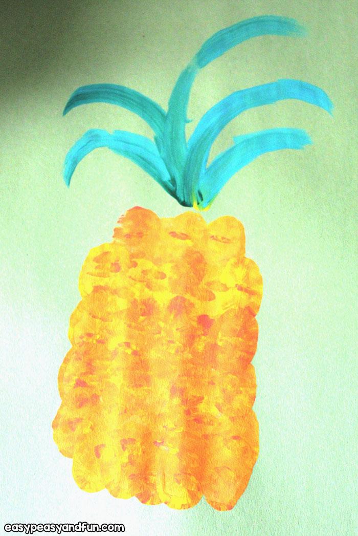 DIY Pineapple Fingerprint Art