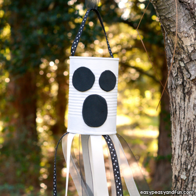 DIY Wind Chime Ghost Craft Idea