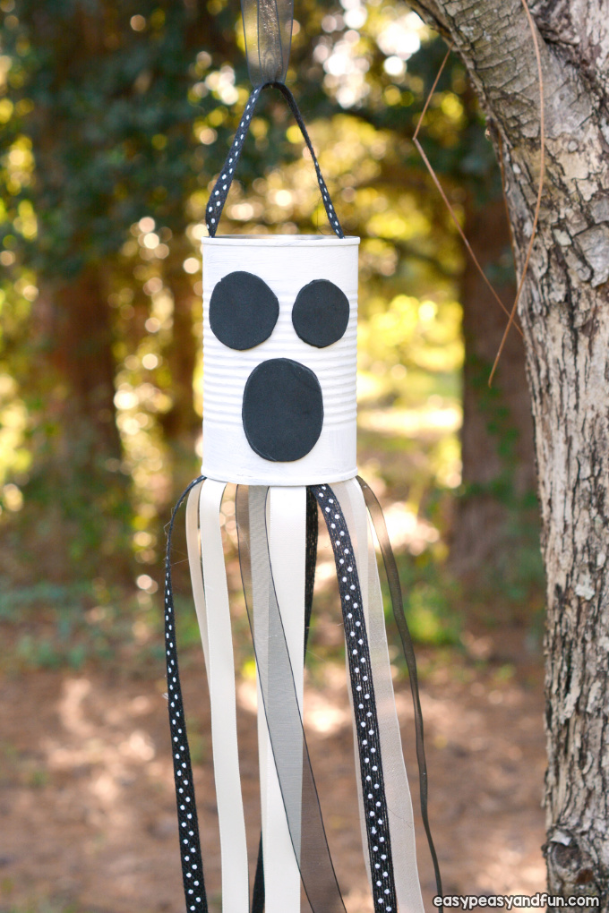 DIY Wind Chime Ghost Craft