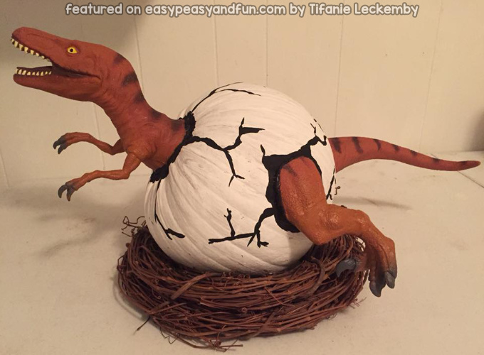 Dinosaur Pumpkin Idea