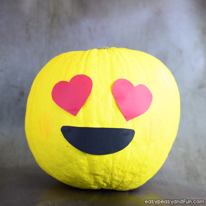 Emoji Pumpkin Painting Idea