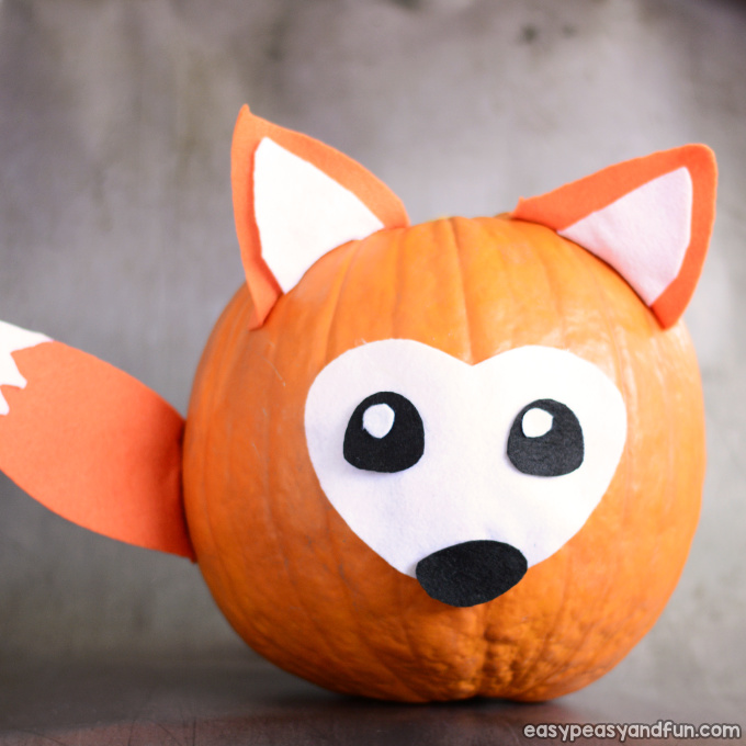Fox Pumpkin Painting Idea