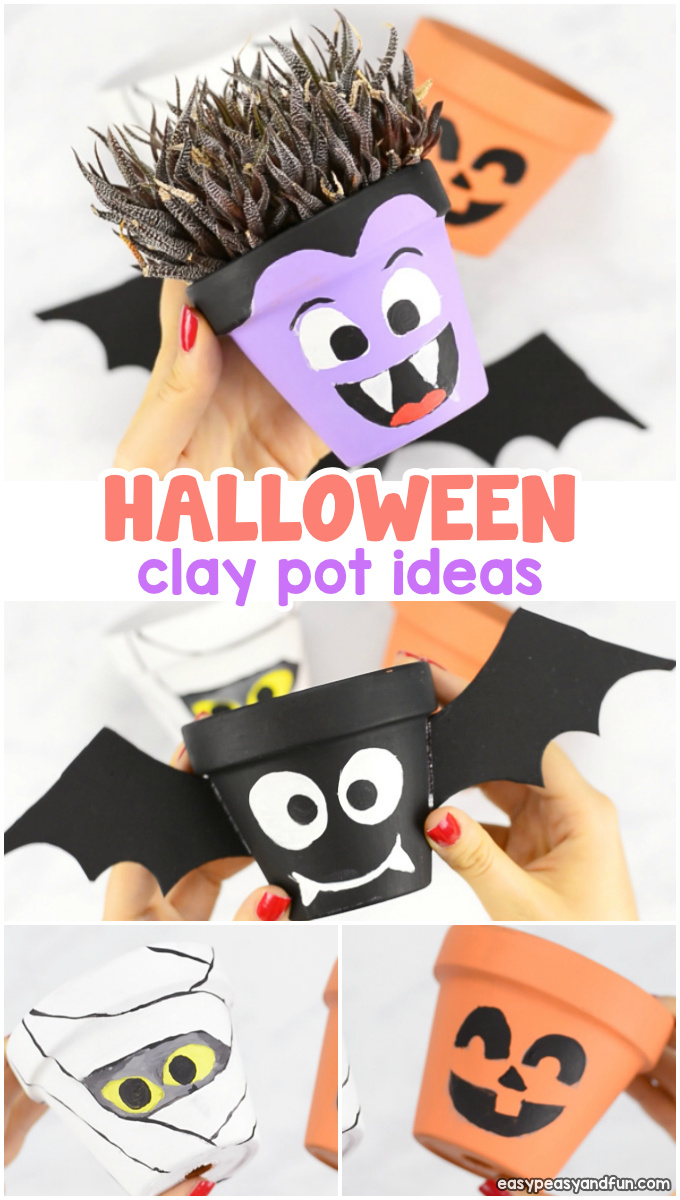 Halloween Clay Pot Craft Ideas for Kids